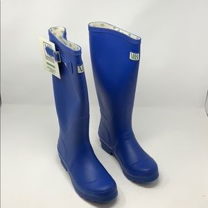 Moneysworth & Best Tall Rubber Welly Blue Boots